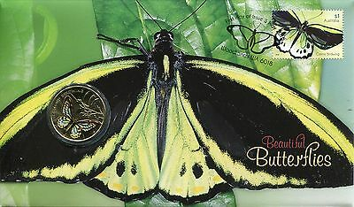2016 Beautiful Butterflies FDC/PNC With Limited Edition $1 Perth Mint Coin