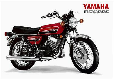 YAMAHA Poster RD400 RD400C 1976 400cc RED Suitable to Frame