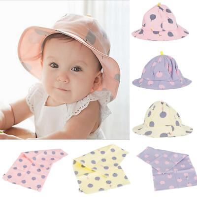 Newborn Baby Boys Girls Sun Hat Bucket Fisherman Cap Toddler Saliva Bibs Bandana
