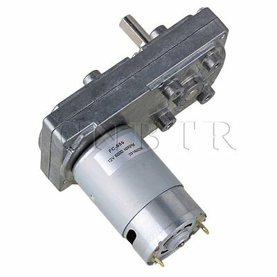Electric Square High Torque Motor 12V 10RPM Silver Metal for Automatic Actuator