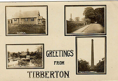 Shropshire. Tibberton Multiview. Rp. Posted. Single, Standard.