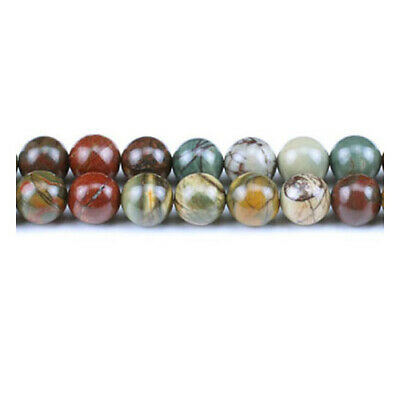 Picasso Jasper Round Beads 8mm Mixed 45+ Pcs Gemstones Jewellery Making Crafts