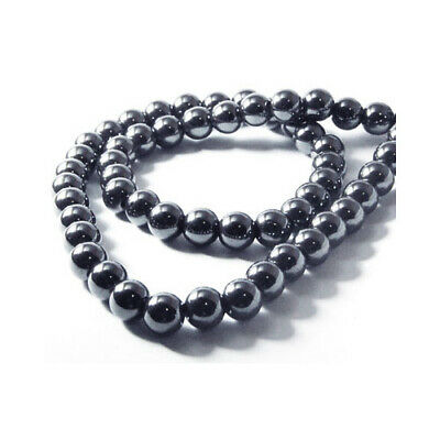 Hematite (Non Magnetic) Round Beads 6mm Grey 60+ Pcs Gemstones Jewellery Making