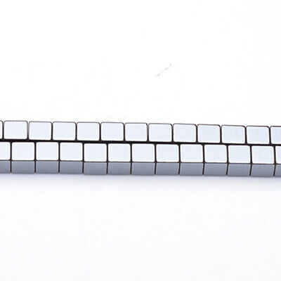 Strand Of 62+ Grey Hematite (Non Magnetic) 6mm Cube Beads GS6861-1