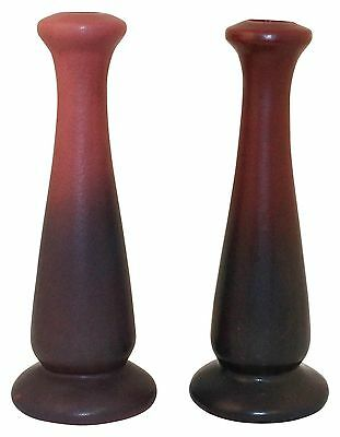 Van Briggle Pottery 1922-26 USA Mulberry Candle Holders