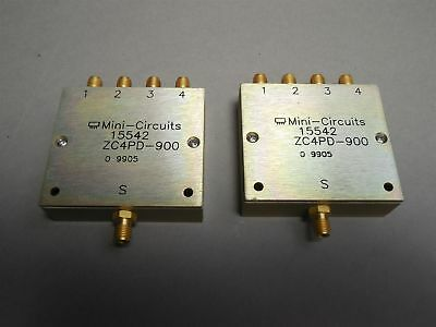 Lot of 2 Micro-Circuits ZC4PD-900 Coaxial Power Splitter - NEW
