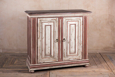 Shabby Chic Double Door Cupboard Red Vintage Italian Style Cupboard Cabinet
