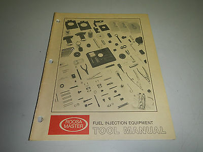 Roosa Master Fuel Injection Equipment Tool Manual