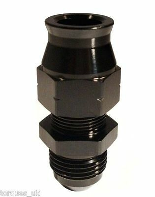 """AN -6 (6AN AN6) STRAIGHT Male To 1/4"""" Tube Adapter In Black"""