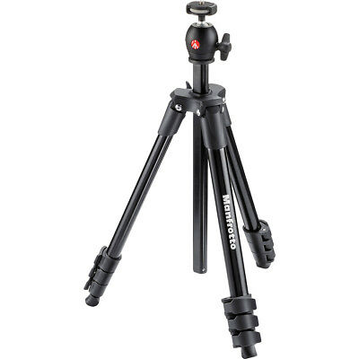 """Manfrotto 51.6"""" Compact Light Aluminum Tripod & Ball Head with Case Black"""