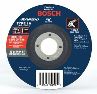 "BOSCH TCW1S450 4-1/2"" x .040 7/8"" Arbor Metal Cutoff Wheel"