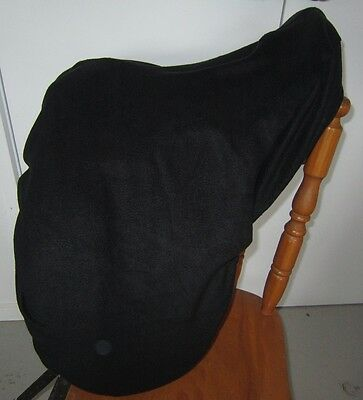 Horse Stock / Western / Swinging Saddle cover FREE EMBROIDERY Classic BLACK