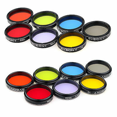 Hot 1.25'' Eyepiece Filter Set Colored Planetary &Moon Filters Kit for Telescope