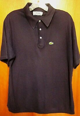 IZOD lrg youth XL polo shirt Lacoste Crocodile vtg embroidery icon 1980s
