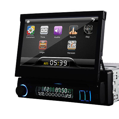 "7"" Single 1 DIN Reproductores DVD HD Car DVD Player Bluetooth Ipod MP3 Autoradio"