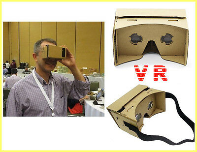 DIY Cardboard 3D VR Brille Virtual Reality glass für Google/Android/iPhone NEU