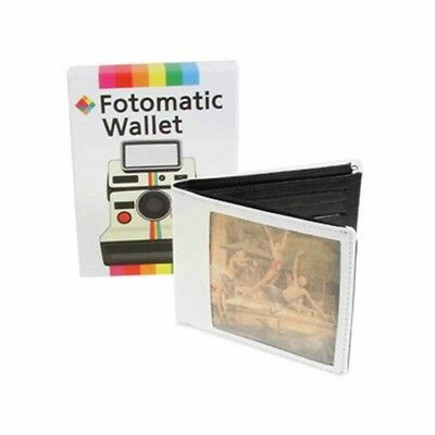 Retro Old-School Fotomatic Wallet Pursed Card Cash Slot Bifold Men Gift Boxed