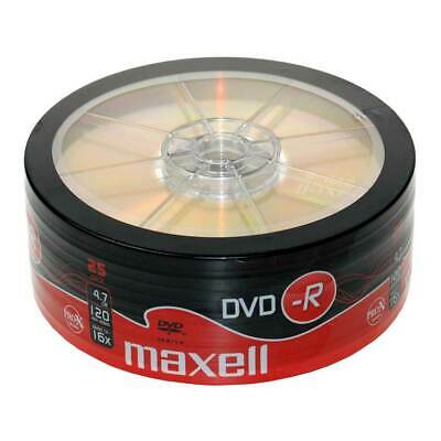25x Maxell Blank DVD-R 16x 4.7GB 120m DVDR Discs NEW Shrink Wrap Pack