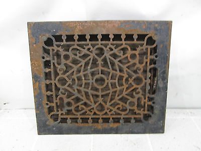 Vintage Cast Iron Floor Grate w/Damper Ornate Pattern ASG#4
