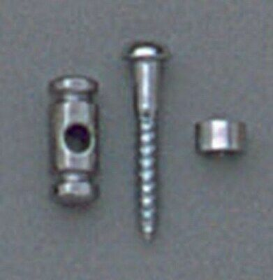 New - Barrel String Guides (2) For Guitar - Chrome