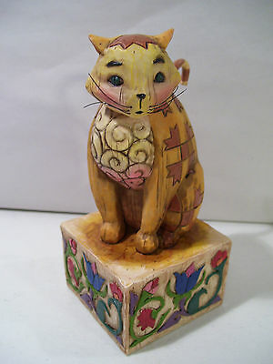 Jim Shore Jasper Cat Figurine 2003 Heartwood Creek Enesco