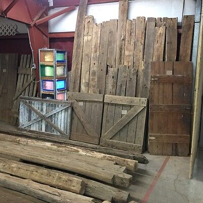 "Genuine Antique Reclaimed Barn Door Pair 34""x40"""