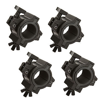 """2"""" Inch Universal Lighting O-Clamps W/ 1/2"""" Inch Adapters - 4PK"""