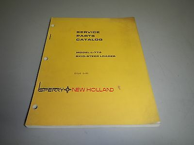 Sperry New Holland L-779 L779 Skid Steer Loader Parts Book Catalog Manual
