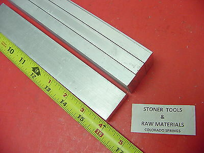 "4 Pieces 1/2"" X 1-1/4"" ALUMINUM 6061 T6511 FLAT BAR 16"" long .500"" Mill Stock"