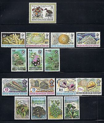 BIOT 1971-75 5 different commemorative sets VF MNH