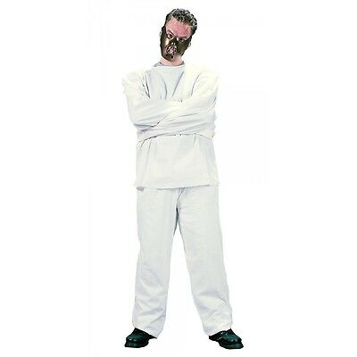 Straight Jacket Costume & Mask Hannibal Lecter Scary Fancy Dress