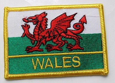 Wales Welsh United Kingdom Flag Embroidered Patch 3 Inches