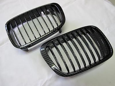 Replacement Front Grille Grill Vent Carbon Look Pattern For BMW E46 3er M3 01-06