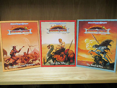 Dark Sun Adventure - Advanced Dungeons & Dragons - 3 Volumes! (1993) - (ID:556)
