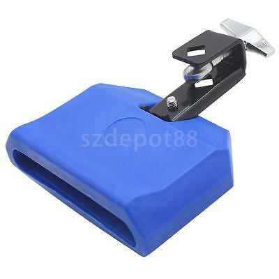 Blue Plastic Cow Bell Percussion Musical Accessory High Pitched Cowbell New