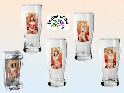 Strip Lady Glass - Naughty Pint Glass! ~ Female (Fully Nude!) Novelty Gift Joke