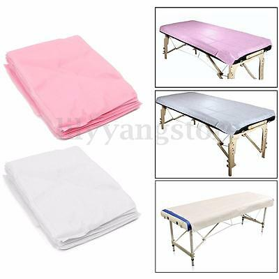 10pcs Massage Beauty Waterproof Disposable Bed Table Cover Sheets Pink 80X180cm