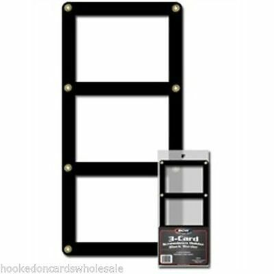10 (ten) BCW Triple 3 Card Screwdown Holder - Black Border