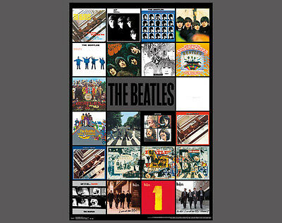 POSTER PRINT MUSIC ALBUM COVER BEATLES BALLADS CARICATURE PAINTING SEB1014