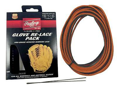 Rawlings Glove Re-Lace Pack Pro-Grade Kit for Baseball & Softball LACEPK Blk/Org