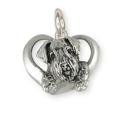 Solid Sterling Silver Sealyham Terrier Dog Charm Jewelry  SEM3-C