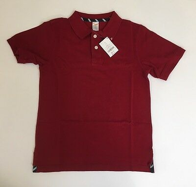 NWT Gymboree Boys Classic Red Size 10 Pique Short Sleeve Uniform Polo Shirt