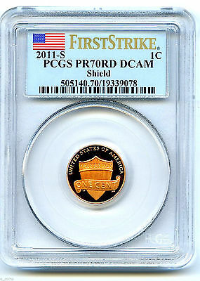 2011 Lincoln Cent Penny Union Shield Proof Pcgs Pr70 Dcam First Strike Coin Rare
