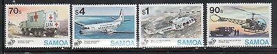Samoa 900-03 Red Cross and Aircraft Mint NH