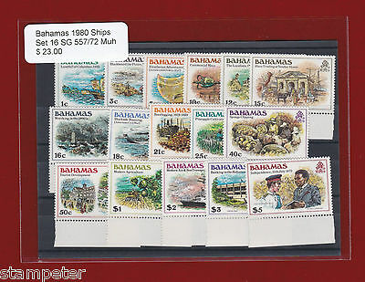 1980 Bahamas Ships SG 557/72 MUH Set of 16