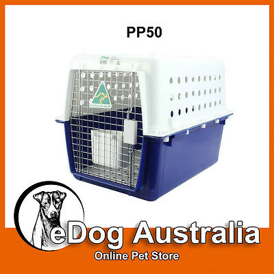 Airline Approved Crate PP50 Dog Cat Pet Carry Carrier Cage Portable