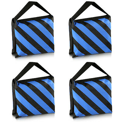 4x Neewer Photography Studio Heavy Duty Sandbag Sand Bag for Stands Tripods Blue