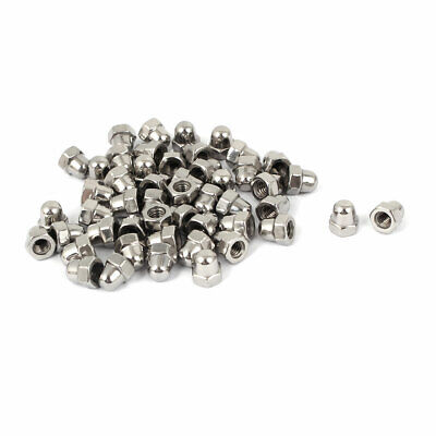 M4 Thread Dia Dome Head Stainless Steel Cap Acorn Hex Nuts 50pcs