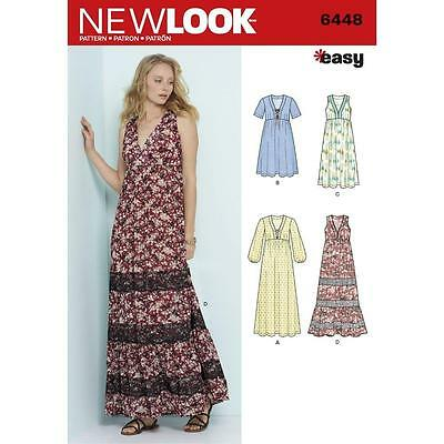 NEW LOOK SEWING Pattern Misses\' Easy V-Neck Dresses Dress Size 6 ...