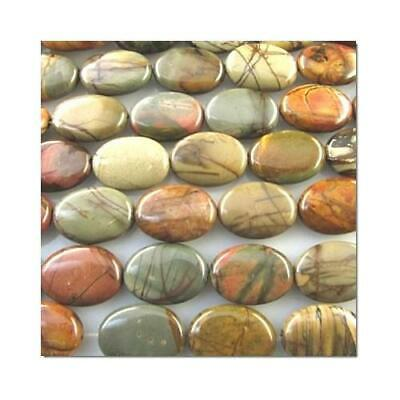 Picasso Jasper Puffy Oval Beads 13x18mm Mixed 20+ Pcs Gemstones Jewellery Making